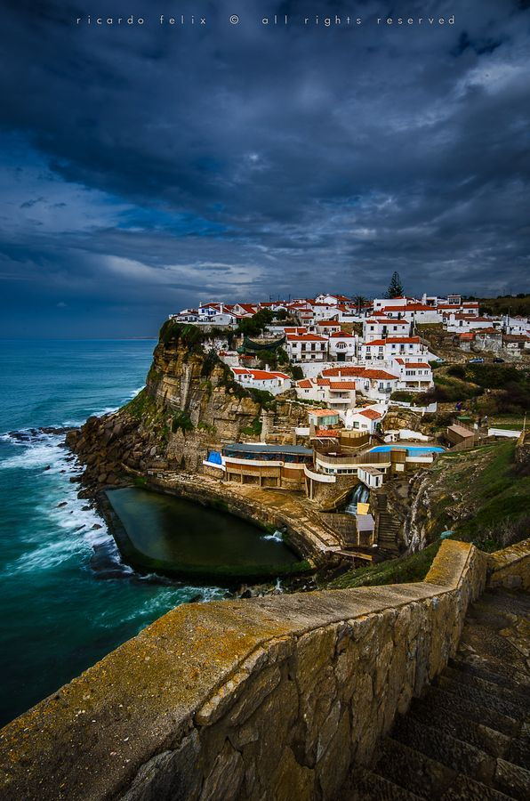 Natural swimming pool in Azenhas do Mar, a seaside town in the municipality of Sintra, Portugal