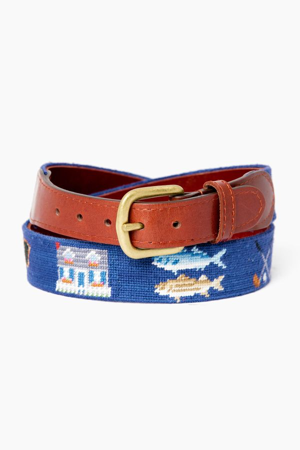 Smathers and Branson Summertime Needlepoint Belt