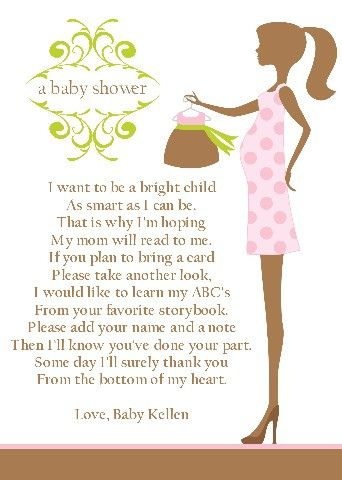 Baby Shower Book Poem  You Can Buy The Baby A Boom For As Much
