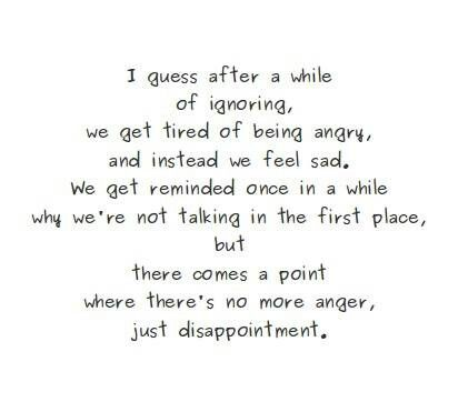 No More Anger, Just Disappointment Bc I Wouldn't Do It To ...