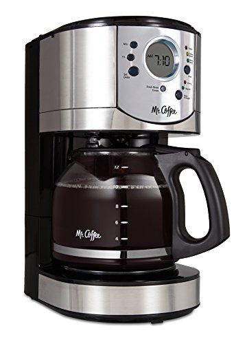 Special Offers - Mr. Coffee 12-Cup Programmable Coffee Maker with Brew Strength Selector Brushed Chrome Accents BVMC-CJX31-AM - In stock & Free Shipping. You can save more money! Check It (July 27 2016 at 04:37AM) >> http://coffeemachineusa.net/mr-coffee-12-cup-programmable-coffee-maker-with-brew-strength-selector-brushed-chrome-accents-bvmc-cjx31-am/
