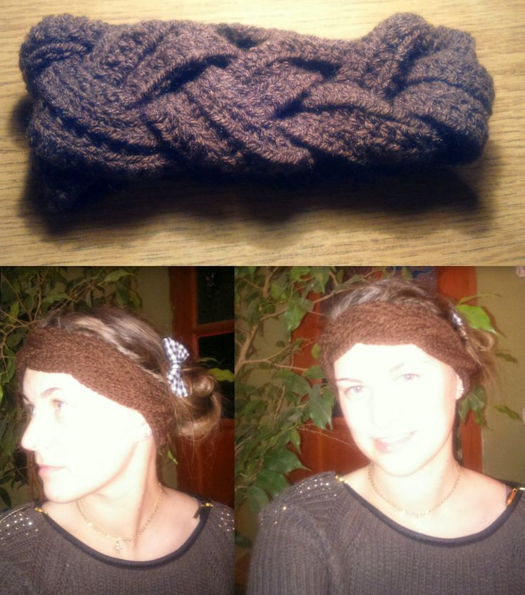 Horgolt fejpánt télire...  Minta: http://chaleurlife.com/braided-crochet-headband-and-earwarmer/