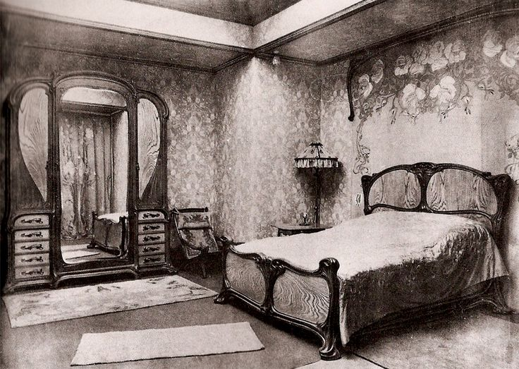 This Image Identifies The Art Noveau Era And Period Belongs To Bedroom Features Very Prominent Characteristics Of Such As