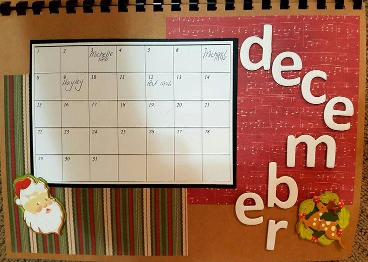 December perpetual calendar