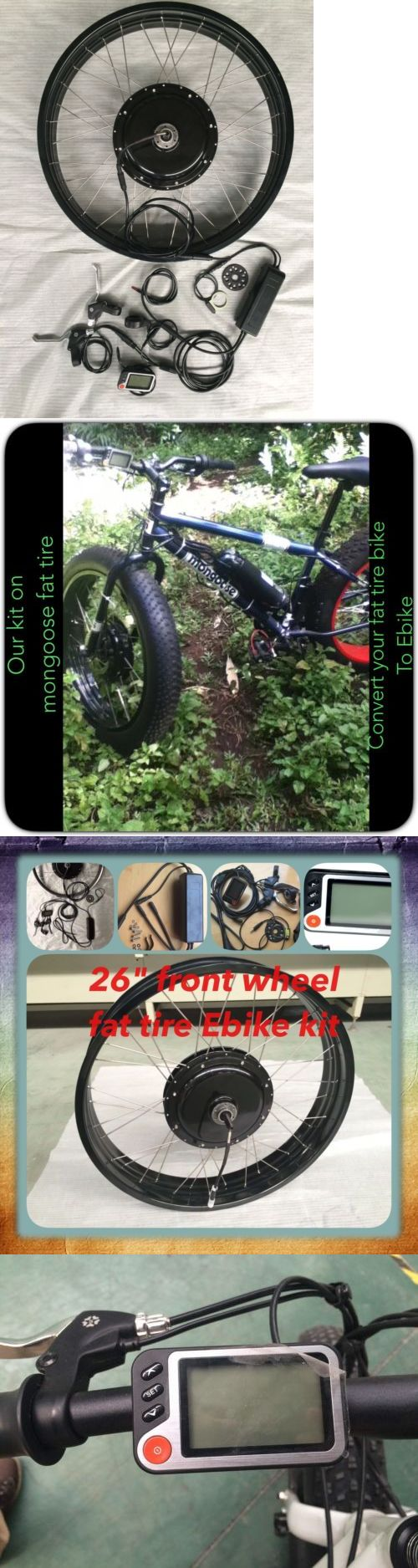Electric Bicycle Components 177814: Electric Fat Tire Conversion Kit ,Electric Bike,36V 500 W 26 Front Wheel -> BUY IT NOW ONLY: $299 on eBay!