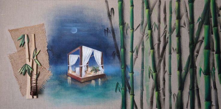 Thaïlande, Honeymoon, Lune de miel, Peinture Honeymoon, Voyage, lune de miel en Thaïlande : Peintures par mademoiselle-lena