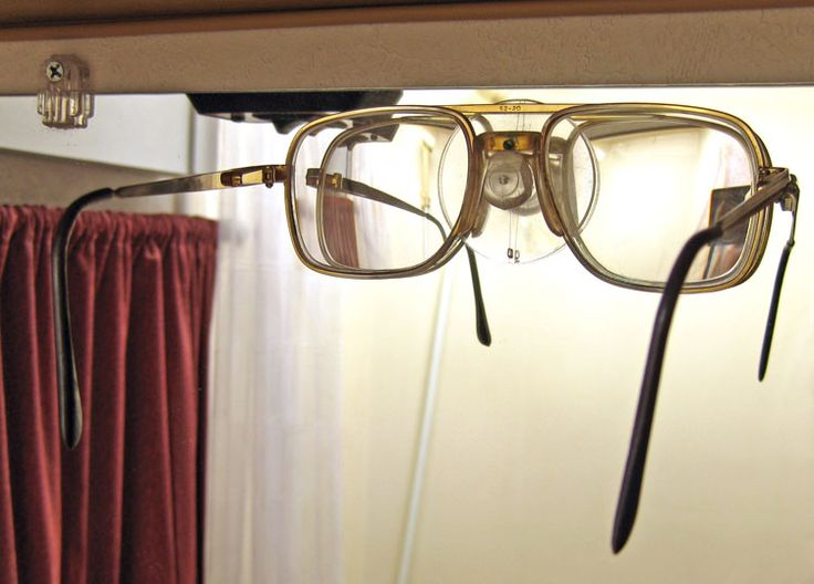 Shaved-down suction cup for glasses at night. Duh.