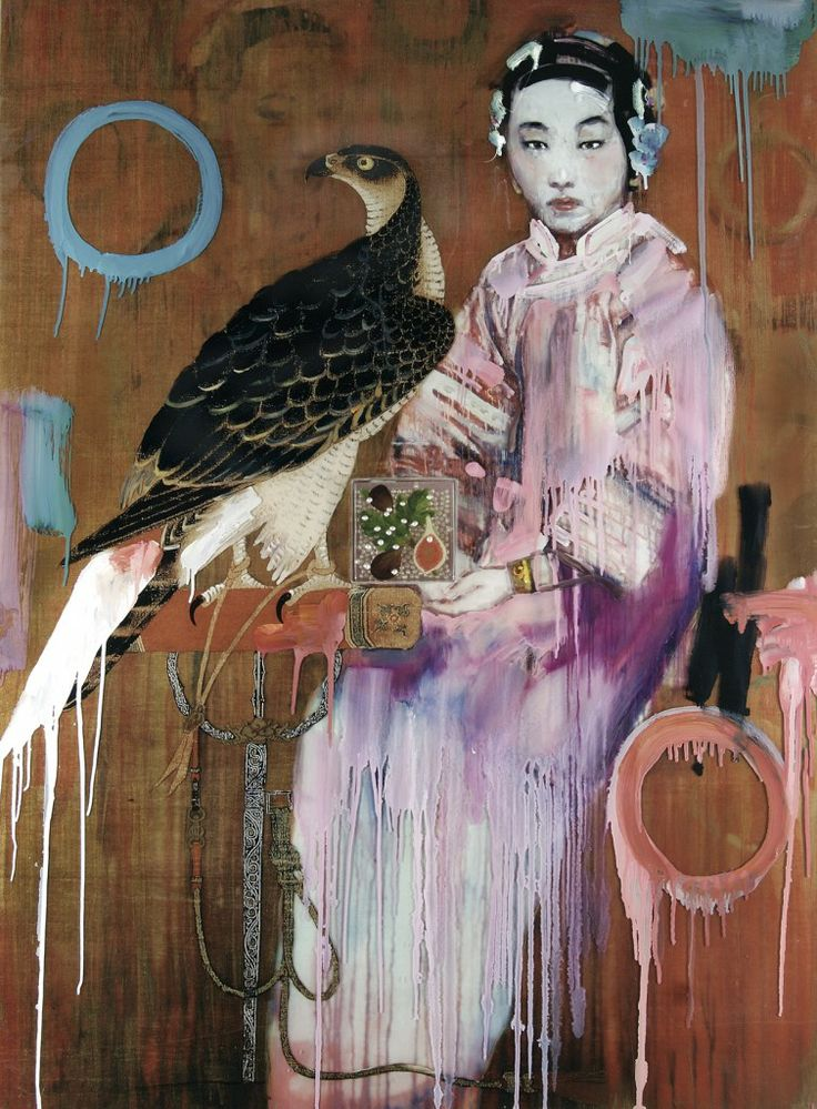 Hung Liu.  Hung Liu was born in Changchun, China and immigrated to the U.S. in 1984. She attended Beijing Teachers College in 1975 and studied mural painting as a graduate student at the Central Academy of Fine Arts in Beijing.[1] She is a class of '86 alumna of UC, San Diego. Her paintings and prints often make use of anonymous Chinese historical photographs, particularly those of women, children, refugees, and soldiers as subject matter. Liu's paintings - often large, drippy, and washed...