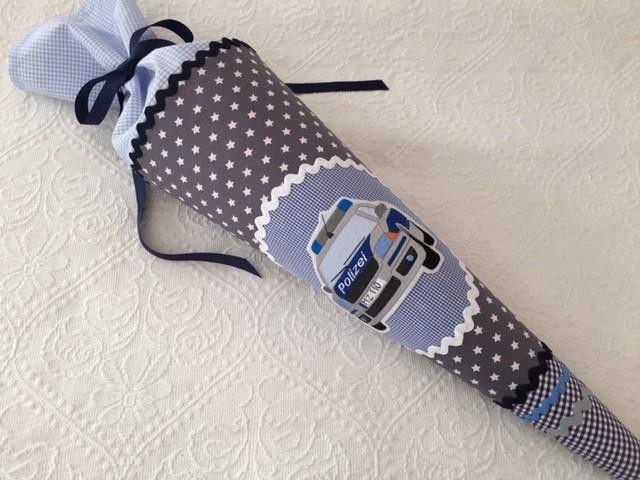 Schultüten - ★ POLIZEI Schultüte Zuckertüte DEKOKISSEN  ★ - ein Designerstück von Zuckermaeuschen bei DaWanda