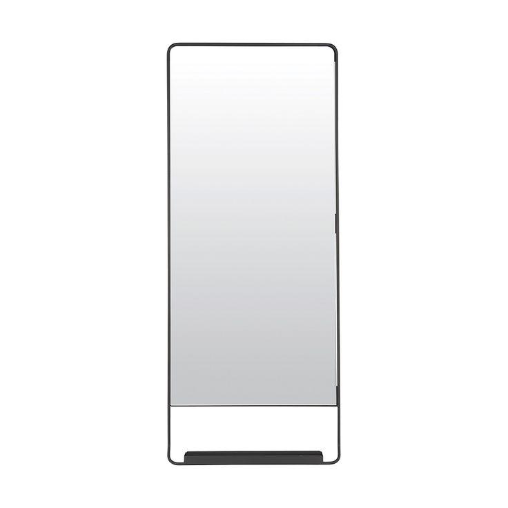 Spegel med hylla från House Doctor - Elegant hög spegel med nätt hylla