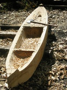 How to build a dugout canoe. Very cool!
