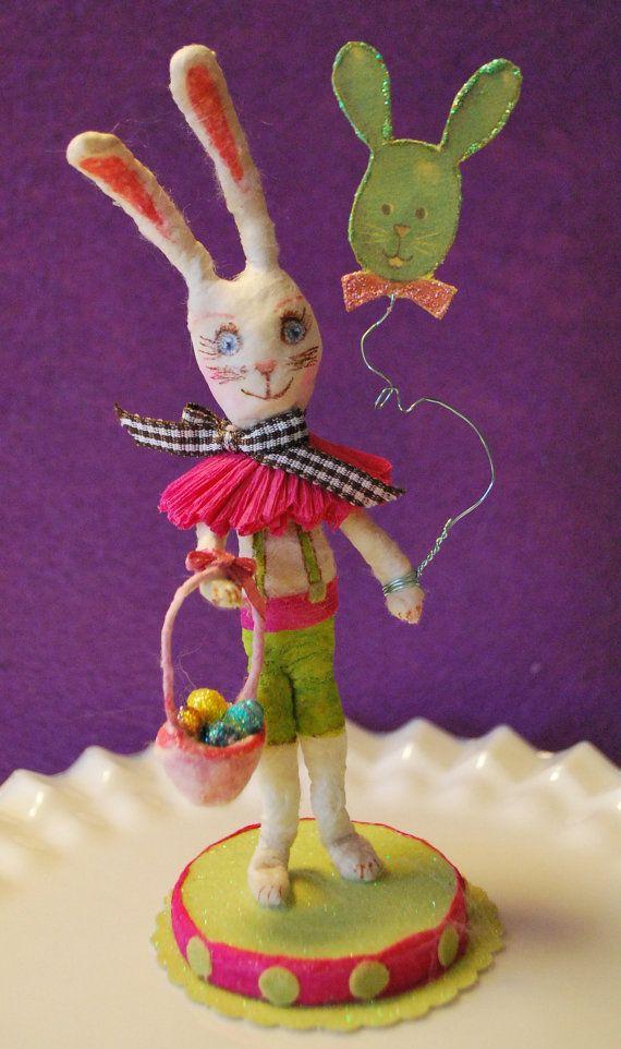 Spun cotton Easter bunny ornament