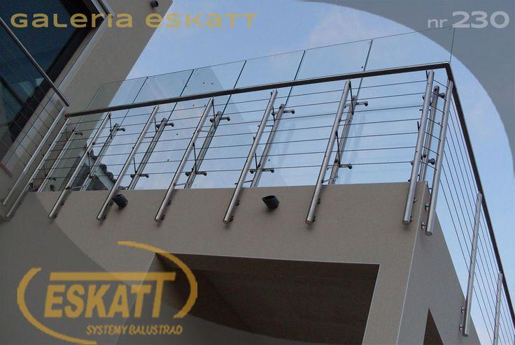 Stainless steel balustrade with steel horizontal links #balustrade #eskatt #construction #balcony