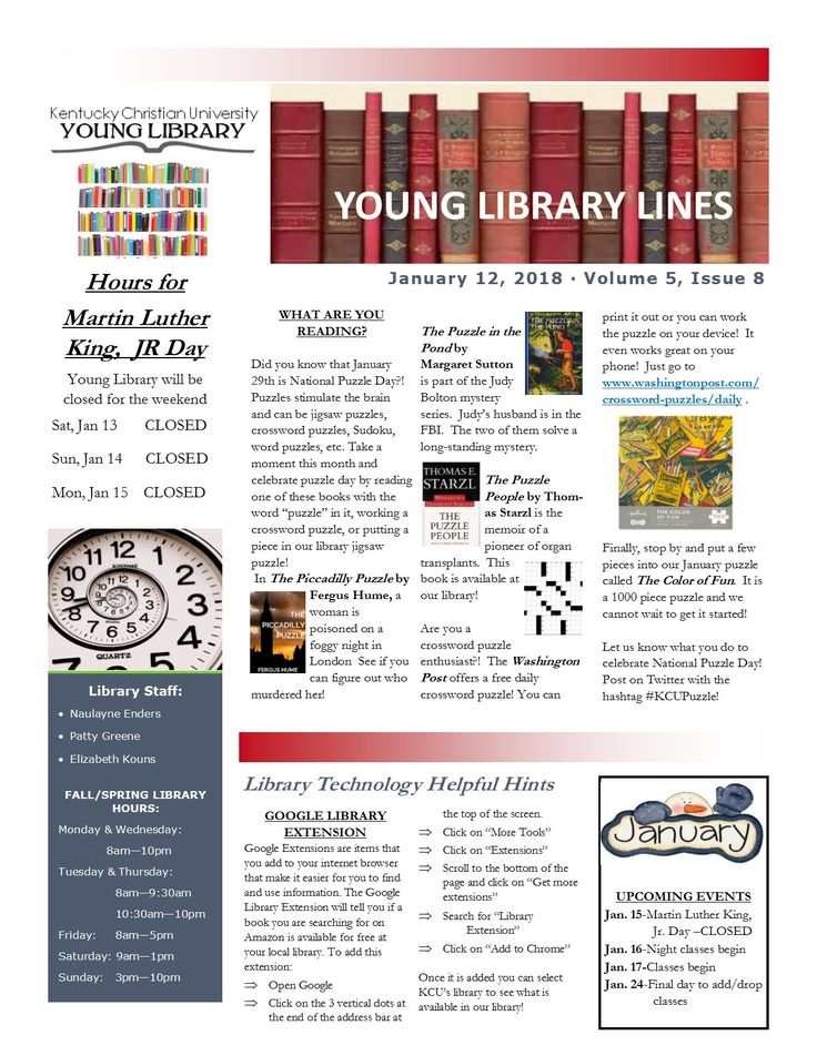 Best Kcu Young Library Newsletters Images On