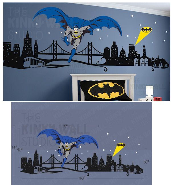 Batman Cityscape Giant Wall Decals   Wall Sticker Outlet