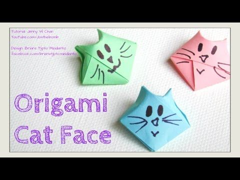 Origami Cat - DIY How to Fold 3D Origami Cat Face - Traditional Origami Star - YouTube