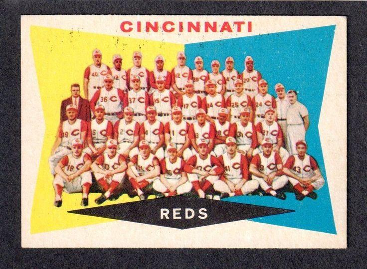 1960 TOPPS #164  CINCINNATI REDS TEAM CHECKLIST  ( Unmarked Boxes )  EX  B