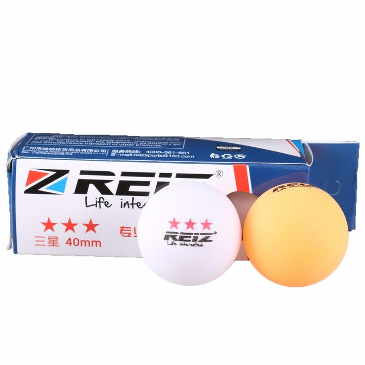 3 Balls/Box Newest 3-Star D40+ Table Tennis Balls New Material Plastic Poly Ping Pong Balls RZ1813 #Affiliate