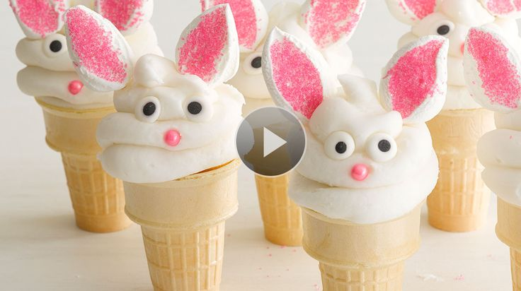 Watch How to Make Bunny Cake Cones in the Family Circle Video