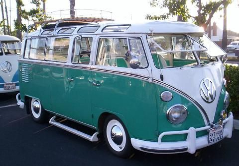 This is the Volkswagen Type 2 - 23 window bus. It's a solar bus. | {group} Glamping : Luxury ...
