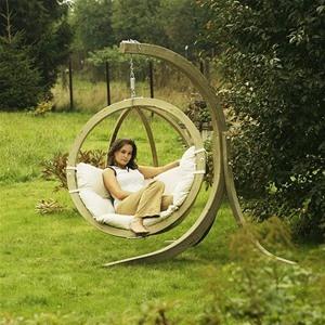 Amazonas Globo wooden garden swing hammock