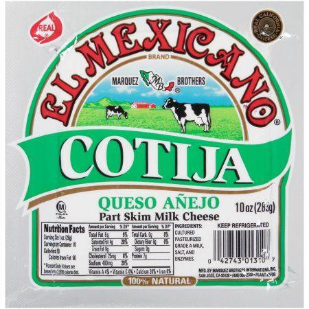 El Mexicano® Cotija Queso Anejo Part Skim Milk Cheese, 10 ...