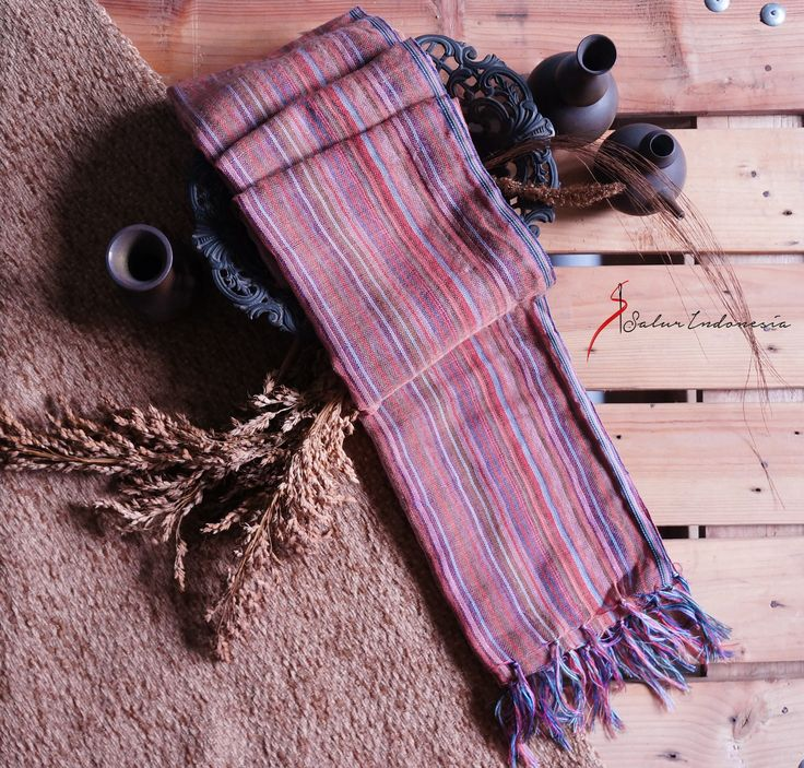ethnic woven scarf by salurindonesia