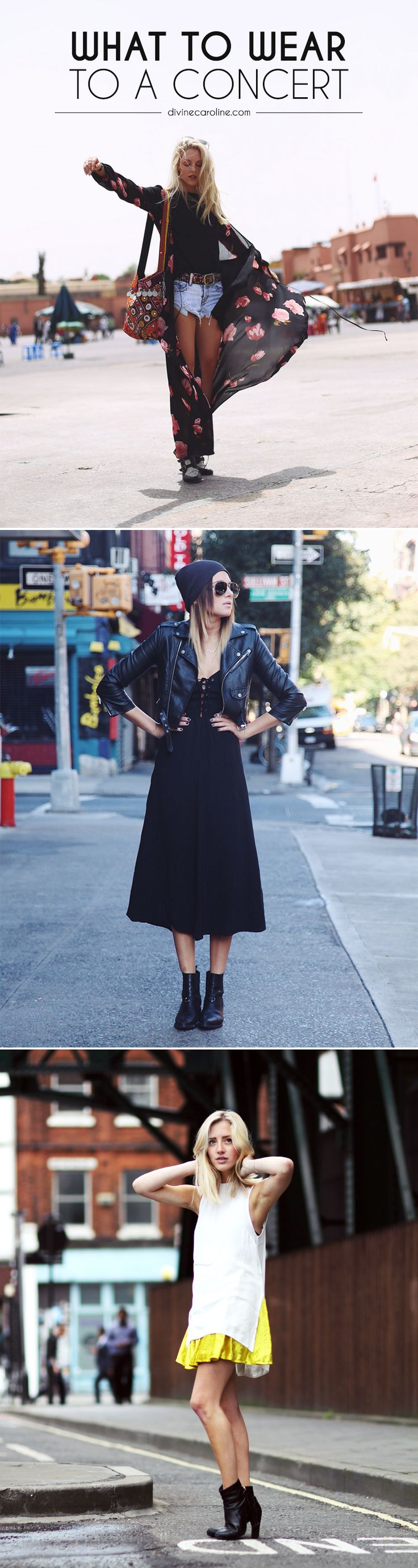 What to wear at a rock concert - awesome outfits
