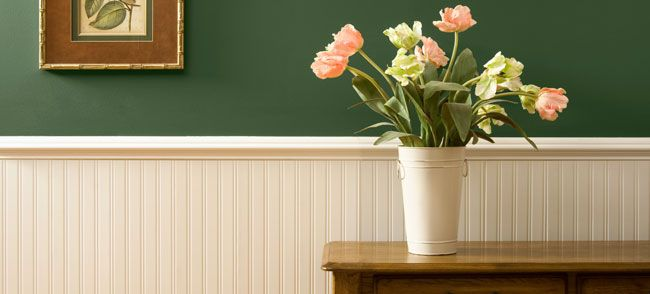 HOW TO: Install Wainscoting    Add Old World charm or give your room a new design with wainscoting panels! A great look for living rooms, dining rooms or even bathrooms! Recommended at intermediate skill level for DIYers.