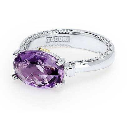 AVAILABLE AT BREMER JEWELRY PEORIA www.bremerjewelry.com    Amethyst Amour! 3.20carats of Purple Amethyst set within sterling silver. Style no: SR13901 MSRP $270