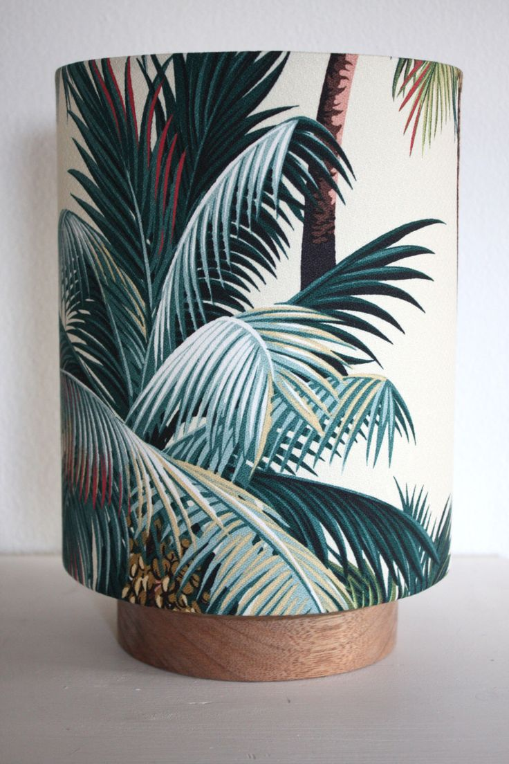 Palm Tree Tropical Lamp, Retro Palm Lamp, Hawaiian Barkcloth Table Lamp by homeworksdesignstore on Etsy https://www.etsy.com/listing/156416506/palm-tree-tropical-lamp-retro-palm-lamp