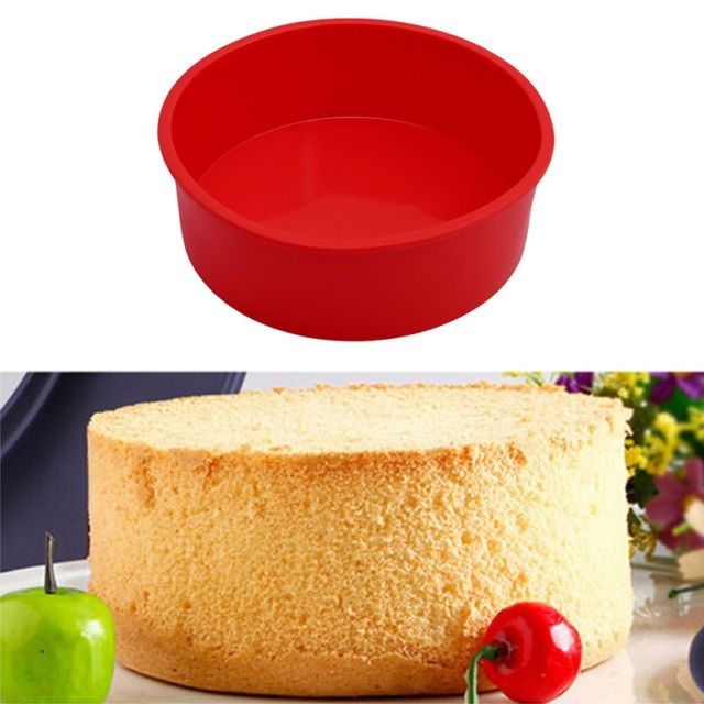 """6"""" Round Silicone Cake Mold Pan Muffin Pizza Pastry Baking Tray Mould Bakeware   eBay"""