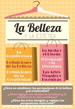 This poster presents the Beauty and Aesthetics (La Belleza y la Esttica) theme for the AP Spanish and Language course. It outlines the subthemes and essential questions for this topic. The AP Spanish Language and Culture themes were developed by AP College Board.You are paying for ONE printable poster as shown in the thumbnail.