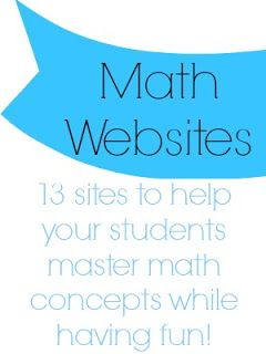 The Center Based Classroom - A list of great FREE websites to help your students master math concepts!