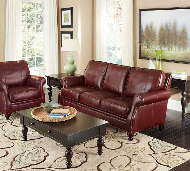 Best Sofas Images On Pinterest Leather Furniture Furniture - Broyhill conversation sofa leather