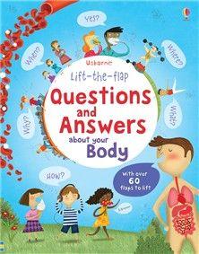 """Questions and Answers about your body - Editura Usborne; Varsta: 2+; Aceasta carte cu clapete contine raspunsurile la numeroasele intrebarii pe care curiosii nostri le au despre corpul lor:  """"Cum miroase?"""", """"De ce trebuie sa ma spal pe maini?"""", """"de ce sangele este de culoare rosie?"""". Compendiul contine o multime de ilustratii amuzante si informative si raspunde la o multime de intrebari ale micutilor."""