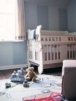 sripes? The color of your baby's bedroom sets the room's mood. Here's how to pick the best nursery colors.data-pin-do=
