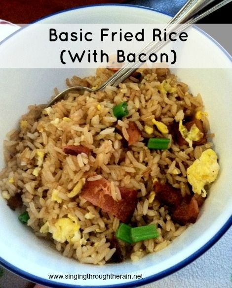 Basic Fried Rice (With Bacon) @Andi Rosado, they stole your recipe!