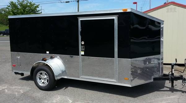 2014 6x12 enclosed low profile cargo trailer 81 tall over for 6x12 wood floor trailer