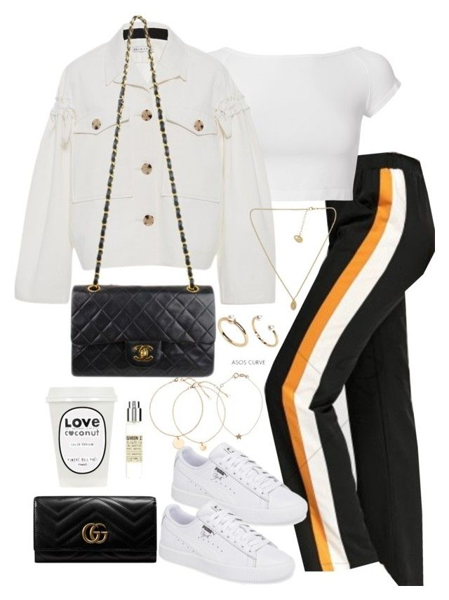 """Untitled #4476"" by theeuropeancloset ❤ liked on Polyvore featuring Helmut Lang, Rejina Pyo, Chanel, ASOS Curve, Gucci, Le Labo and Kismet"