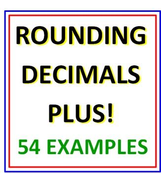 ROUNDING DECIMALS PLUS   TWO full worksheets rounding decimals to the nearest tenth, hundredth, thousandth and ten thousandth.   * * 54 EXAMPLES IN ALL to round!   * * PLUS - 12 EXTRA examples where students compare decimals with one another using < and >;.    All in all, great practice for their decimals.