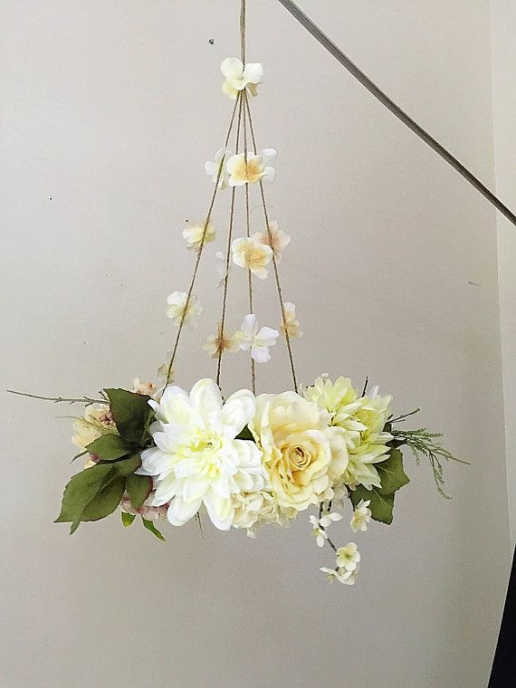 Flower Mobile Hanging Flowers Home Decor Baby Nursery