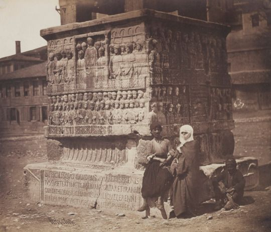 Base of the Obelisk of Theodosius, Constantinople by James Robertson (1855)