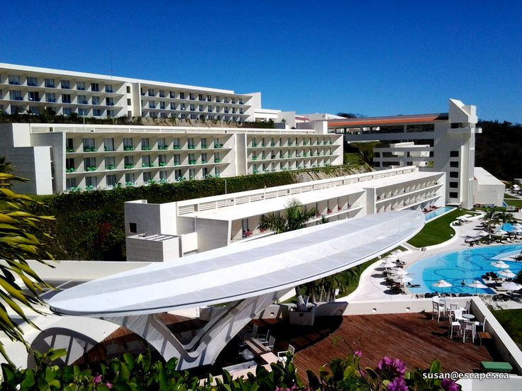 Secrets Huatulco, the view from the hill top spa towards the rooms