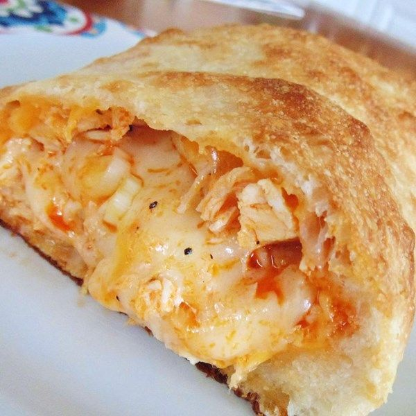 "Buffalo Chicken Calzone | ""I made this calzone for a New Year's Eve party and it was gone before any other item."""
