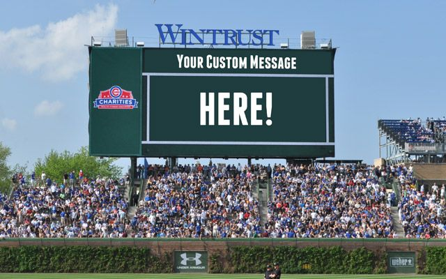 Wish Dad a happy Father's Day with a personalized message on Wrigley Field's new video board!