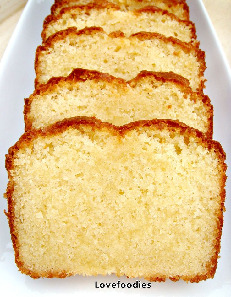 Vanilla Pound Cake. Moist, and absolutely delicious!