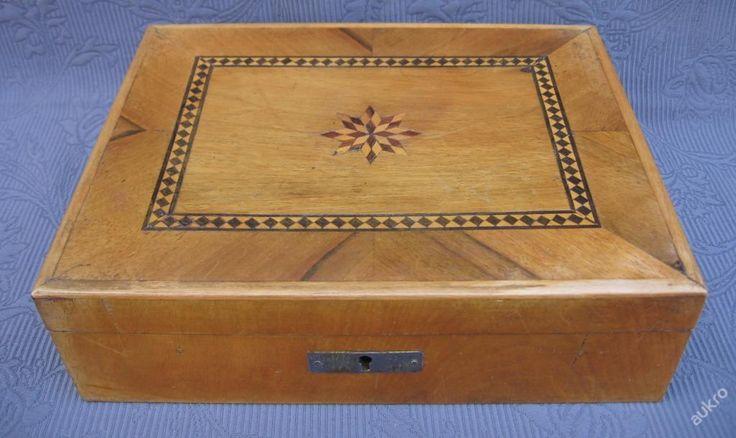 Šperkovnice s intarzií (6590543559) - Aukro - největší obchodní portál