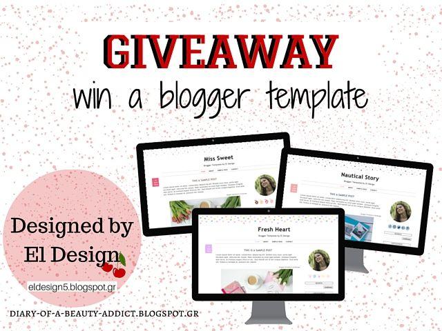 Κέρδισε ένα μοντέρνο blogger template από το El Design by Despinas Studio