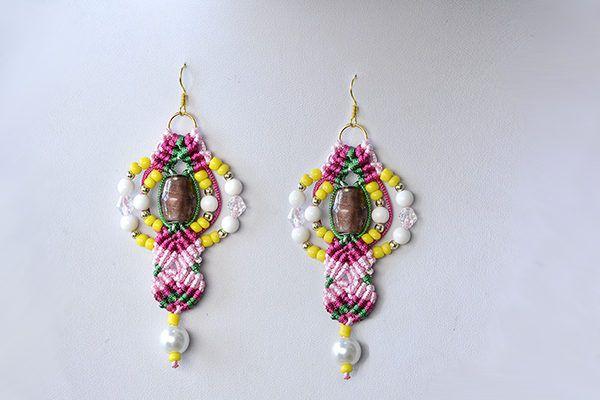 Wie macht man ein Paar von Faden- Geflochtene und Perlen-Tropfen-Ohrringe1...2...3...4...